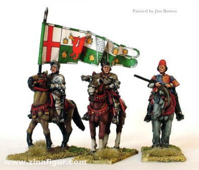 Lancaster-Feldherren zu Pferd