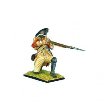Britischer Musketier, kniend, feuernd