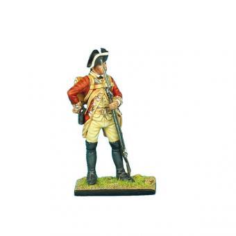 Britischer Musketier, nach Patrone greifend
