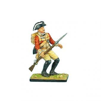 Britischer Musketier, fallend
