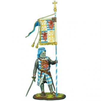 Standartenträger König Heinrichs II. mit Lusignan Wappen