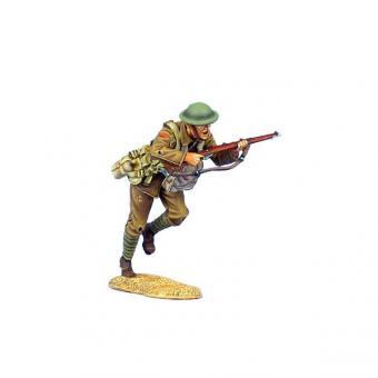 Britischer Infanterist mit SMLE Mk.III - stürmend