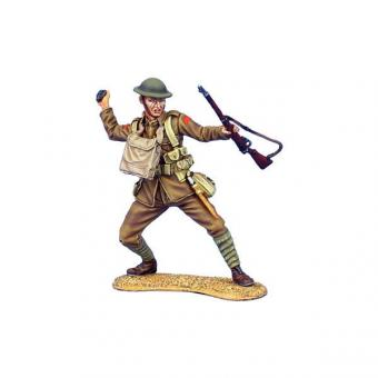 British Infantry Throwing Grenade