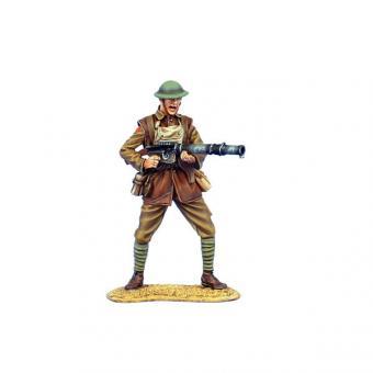 British Infantry Firing Lewis MG