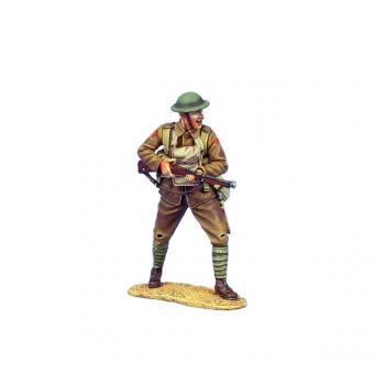 Britischer Infanterist mit SMLE Mk.III - vorgehend