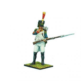 Französischer Voltigeur Corporal, Patrone abbeißend