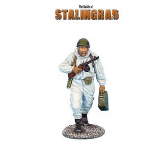 Russischer Infanterist in Wintertarnung