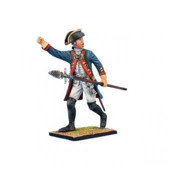 Prussian Grenadier Officer Advancing