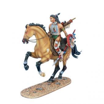 Cheyenne Indianer mit Speer zu Pferd