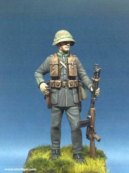 Schweizer Soldat mit LMG 25
