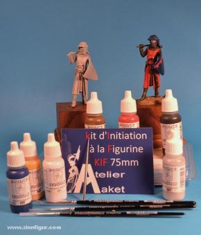 Diverse Hersteller: Starter set figure painting with knight figure, 11. Jh. bis 15. Jh.