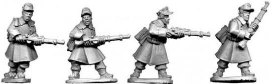 Deutsche Schützen im Mantel