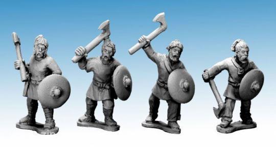 Sächsische Krieger mit Äxten