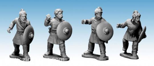 Sächsische Krieger mit Speeren