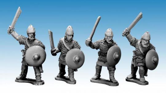 Sächsische Adlige Krieger mit Schwertern