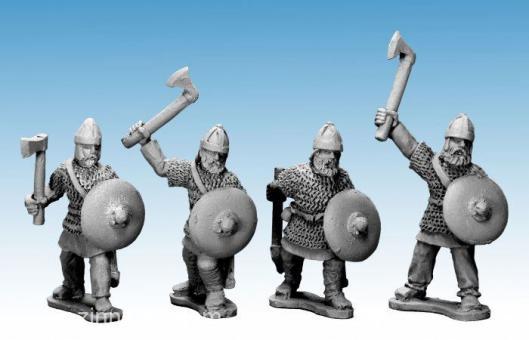 Sächsische Adlige Krieger mit Äxten