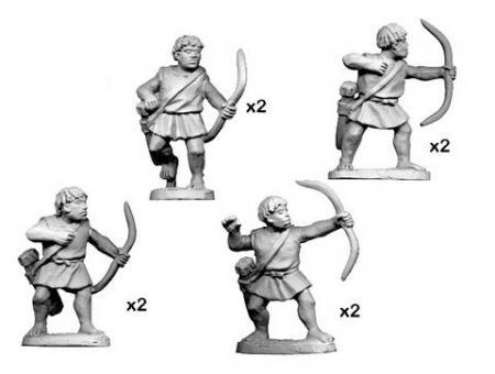 Numidische Krieger mit Bögen