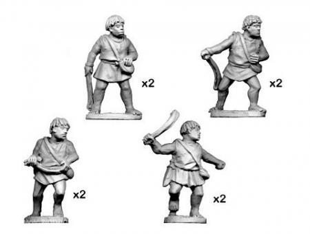 Numidische Krieger mit Schleudern