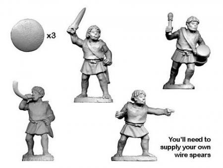 Numidische Krieger Kommandofiguren