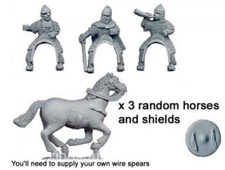 Spanische Ritter in Kettenhemden Kommandofiguren
