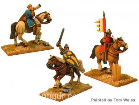 Ungepanzerte Normannische Kavallerie Kommandofiguren