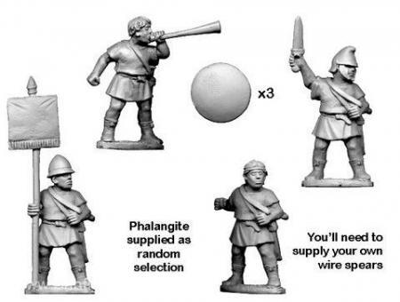 Ungepanzerte Phalangisten Kommandofiguren