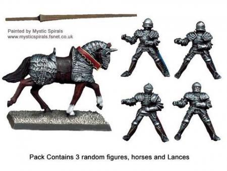 Men-at-Arms zu Pferd mit Lanzen