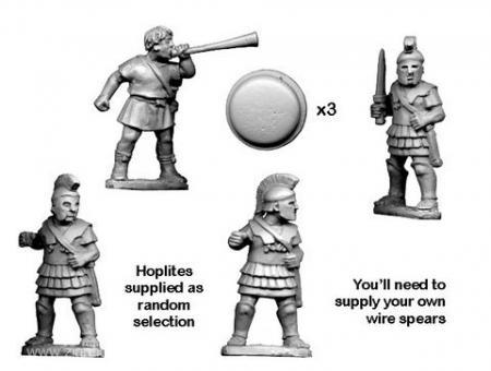 Griechische Hopliten Kommandofiguren
