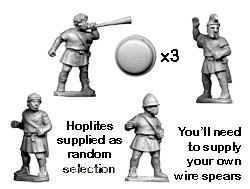 Ungepanzerte Griechische Hopliten Kommandofiguren