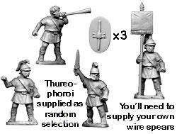 Griechische Thureophoroi Kommandofiguren
