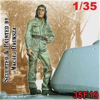Tank Crewman Wearing Overalls