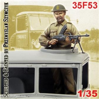 Soldat mit Bren Gun für Bedford-Lkw