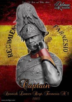 Spanischer Lanzier-Hauptmann - Regiment Farnesio - 1885