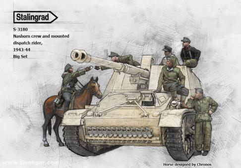 Nashorn Besatzung und Meldereiter - 1943-44