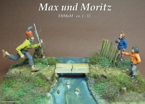 Max und Moritz mit Schneidermeister Böck