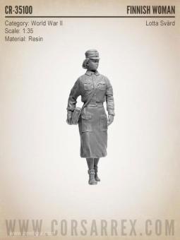 Finnische Zivilschutz-Soldatin - Lotta-Svärd-Organisation