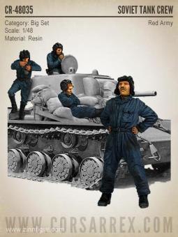 Russische Panzersoldaten - Rote Armee