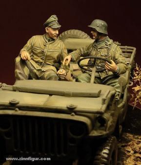 Waffen SS Jeep Besatzung