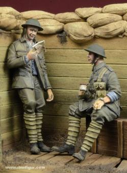 """""""Im Schützengraben"""" - Britische Infanteristen"""