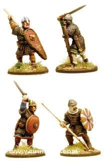 Anglodänische Huscarls mit Speeren