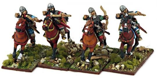 Byzantinische Kavallerie mit Bögen
