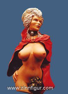 Torso: Venezianischer Karneval, Frauentorso mit Kopf. (Pinup)