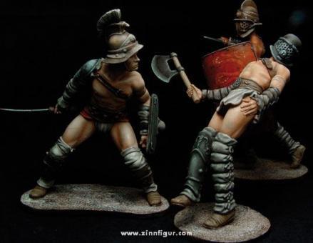 Römische Gladiatoren im Kampf