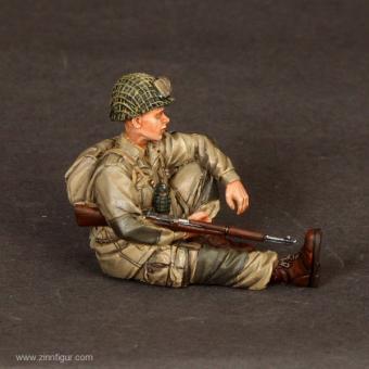 US Airborne Soldat - sitzend