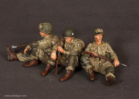 US Airborne Sergeant und Soldaten