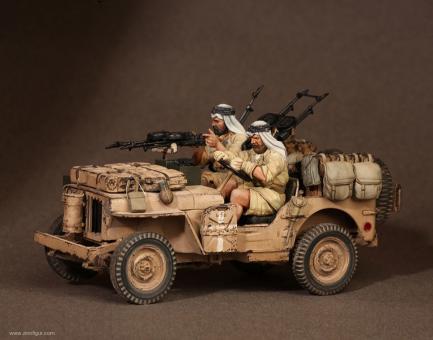 SAS Soldaten für Jeep Set 3 - Nordafrika 1941-42