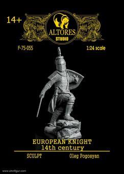 Europäischer Ritter - 13./ 14. Jh., abgesessen mit Topfhelm