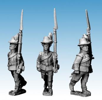 Schwedische Infanterie vorgehend - 1788-90