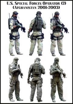 US Special Forces Soldat - Afghanistan 2001-03