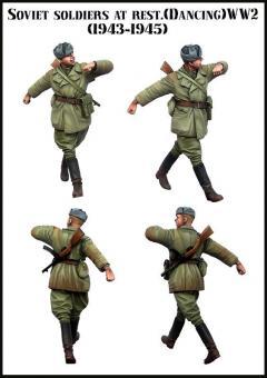 Sowjetischer Soldat, tanzend - 1943-45